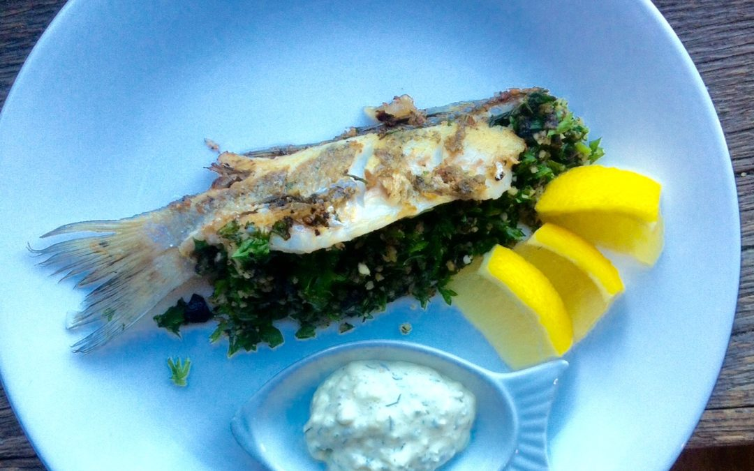 Pan fried whole Perch
